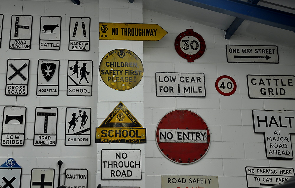 photoblog image Signs of the times: Mid 20th century road signs